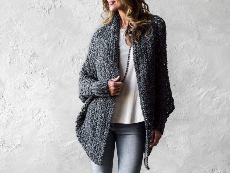 FREE Carleton Cocoon Sweater Crochet Kit